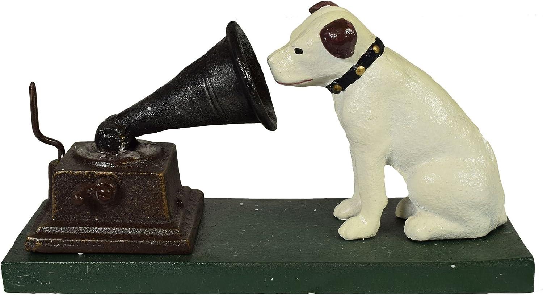 HMV Nipper Dog Music Figurine Cast Iron Money Bank Box Change Jar