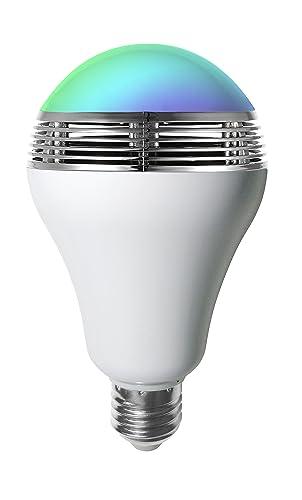 Bombilla LED RGB con altavoz SeveOn Sound 53084, Bluetooth 3.0, 6W, E27,