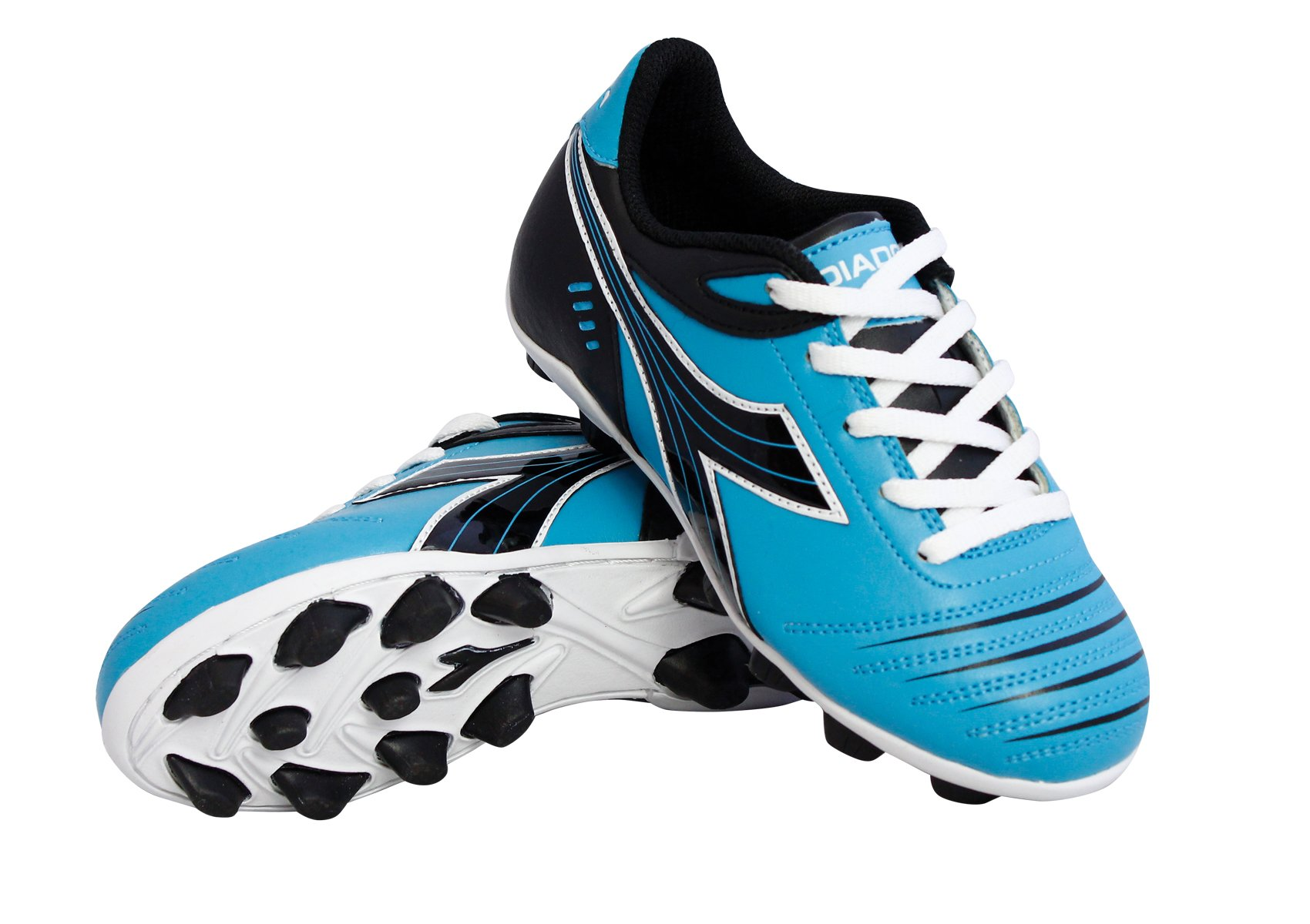 Diadora Kid's Cattura MD Jr Soccer Cleats (10.5 M US Little Kid, Columbia Blue/Black)