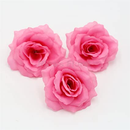 Amazon rina silk flowers wholesale 100 artificial silk rose rina silk flowers wholesale 100 artificial silk rose heads bulk flowers 10cm for flower wall kissing mightylinksfo