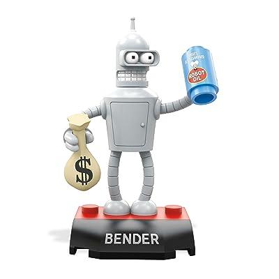 MEGA CONSTRUX HEROES Futurama Bender Robot Building Block Figure: Toys & Games