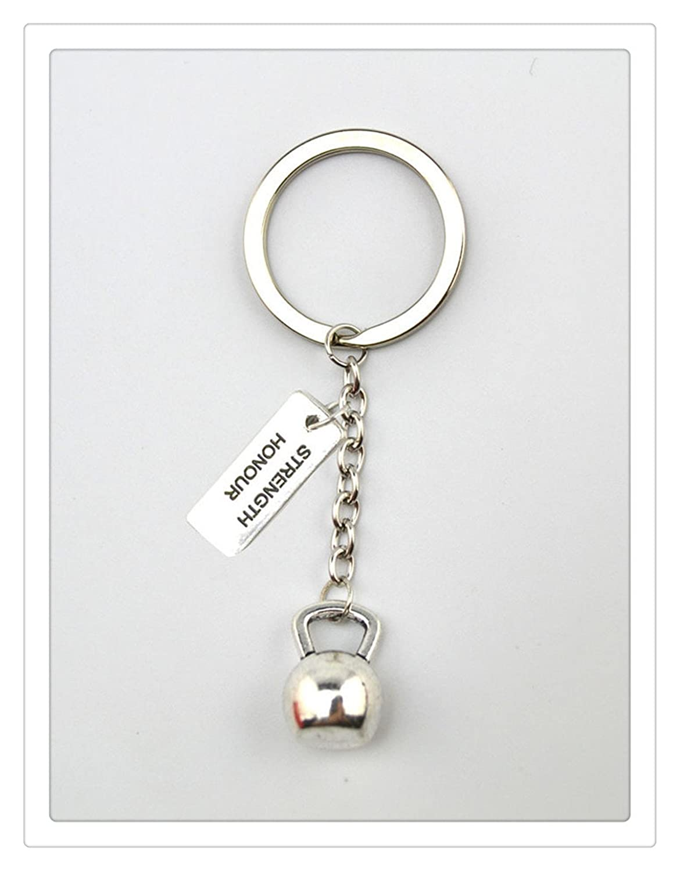 Amazon.com: Pesa rusa (Llavero Dumbbell, wheigth placa de ...