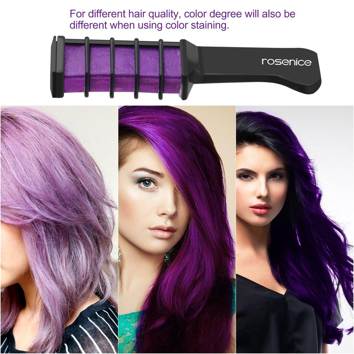 Amazon rosenice hair chalk comb shimmer temporary hair color amazon rosenice hair chalk comb shimmer temporary hair color cream 6pcs beauty solutioingenieria Gallery