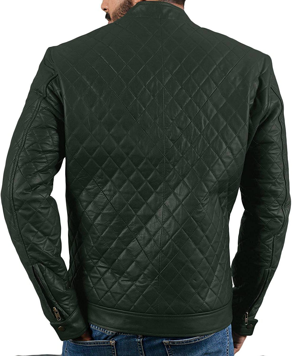 Laverapelle Mens Genuine Lambskin Leather Jacket Black, Fencing Jacket 1501547