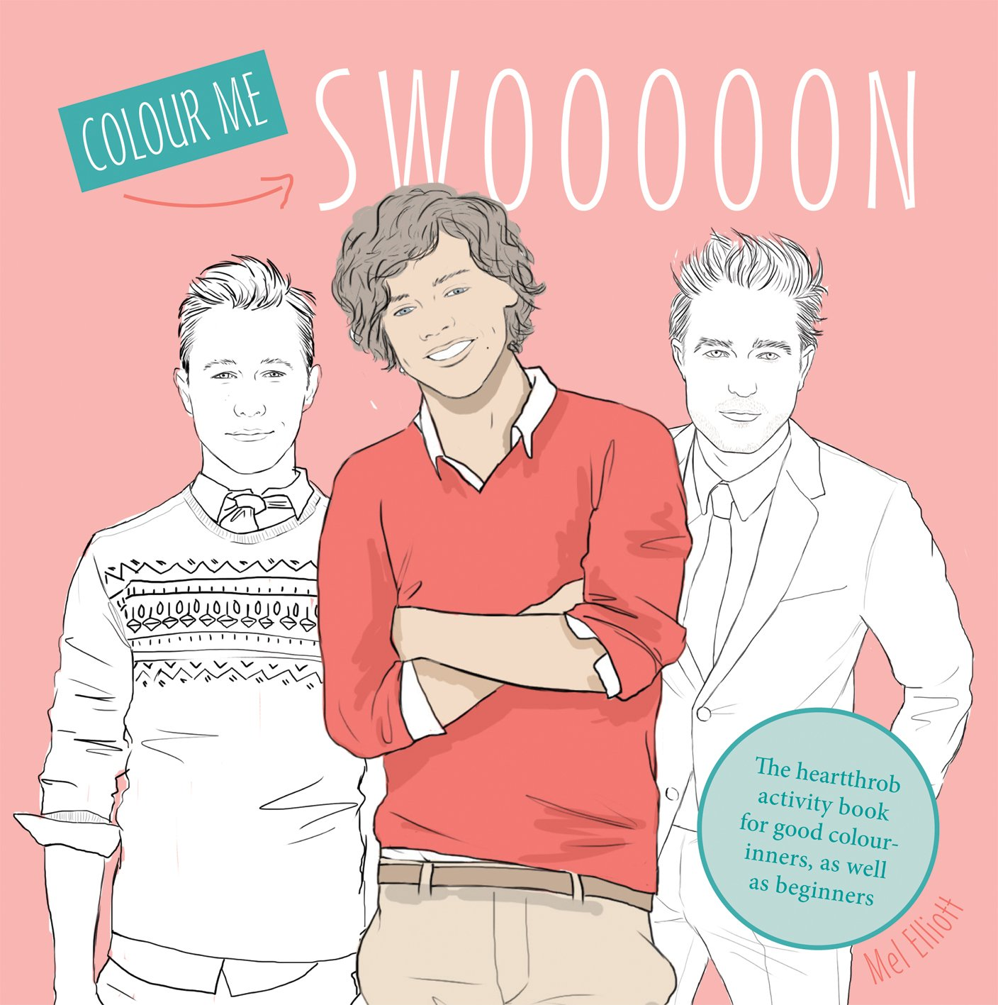 Swoon The Heartthrob Activity Book For Good Color Inners As Well Beginners Colouring Books Amazoncouk Mel Elliot 9781909396234