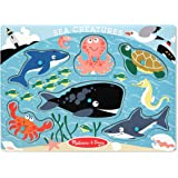 Melissa & Doug Sea Creatures Wooden Peg Puzzle (6 pcs)