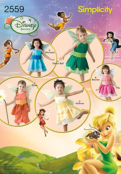 Amazon.com: Simplicity Sewing Pattern 2559 Toddler Costumes, A (1/2 ...
