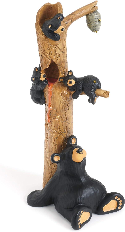 DEMDACO Honey Tree Black Bear 9 x 3 Hand-cast Resin Figurine Sculpture