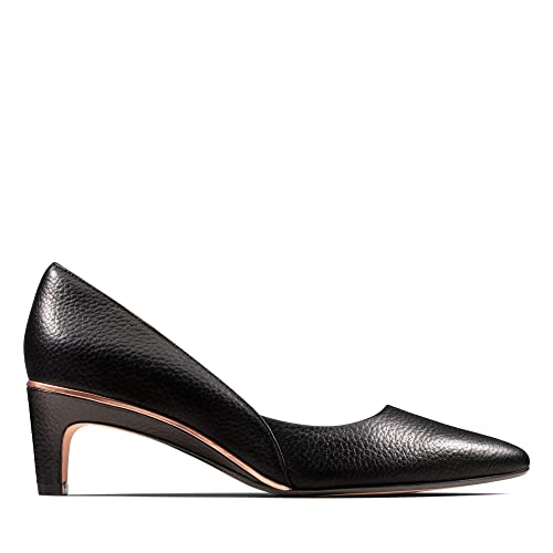 baf35728540 Clarks Ellis Rose Leather Shoes in Black  Amazon.co.uk  Shoes   Bags