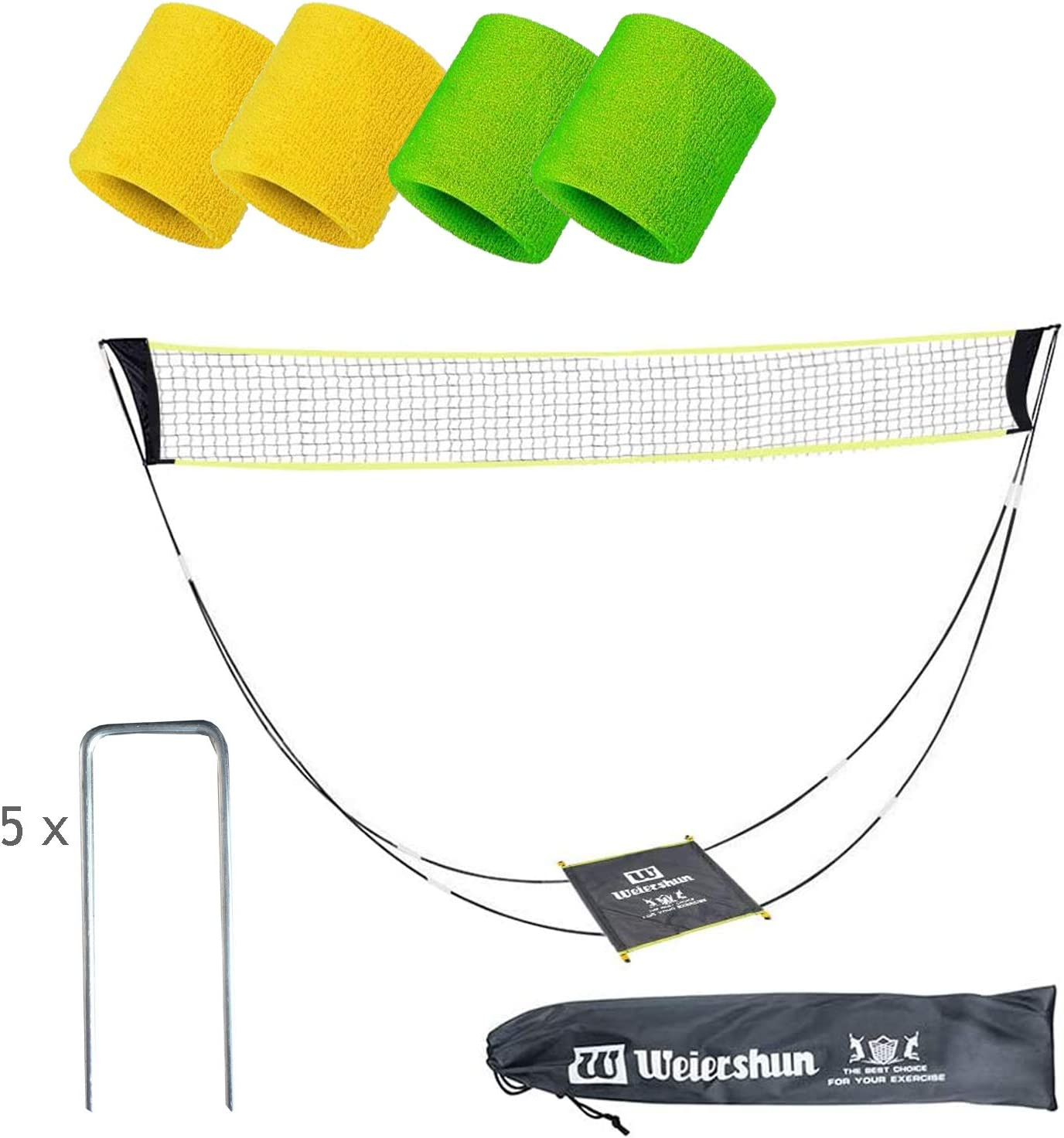 Backyard,Beach Leadaybetter Portable Volleyball Tennis Badminton Net with Stand Carry Bag,Foldable Freestanding Net Set for Outdoor//Indoor Court