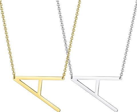 Amazon.com: LOYALLOOK - Collar con colgante de letra grande ...
