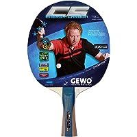 GEWO adultos Raqueta CS Energy Carbon Desarrollado por Christian dulce Raqueta de tenis de mesa, gris/marrón, cóncavo