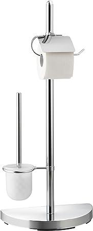 Acero Axxentia Bad Lianos Escobillas y portaescobillas de Inodoro 32,5 x 76 x 17,5 cm Plateado