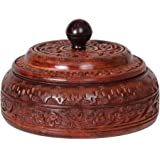 Wooden Masala Spice Storage Box 4 Storage Compartments Handcrafted
