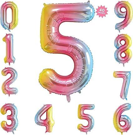 Amazon.com: Globos de números digitales gigantes de 40 ...