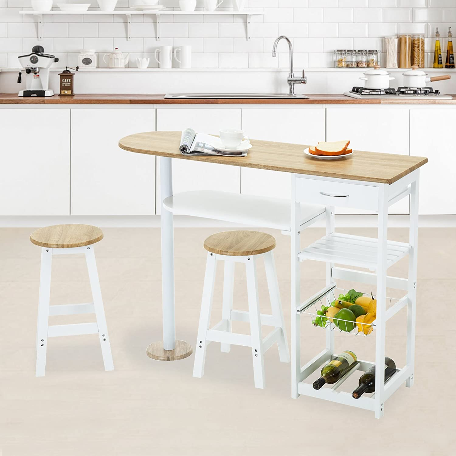 Mecor narrow dining table for small spaces