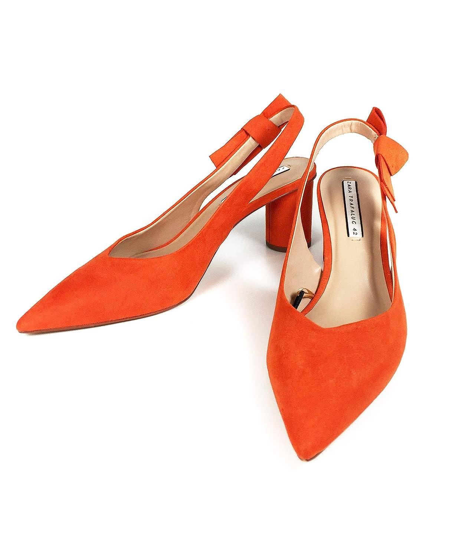 9fe33ce36fe Zara Women High Heel Shoes with Bow Detail 7230 301 (39 EU