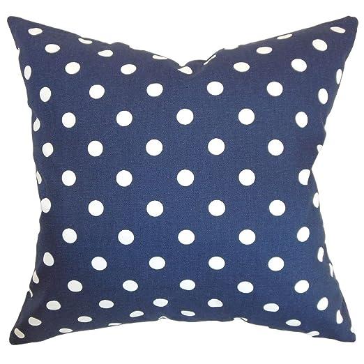 La Almohada Collection Nancy Lunares cojín, Azul Marino ...