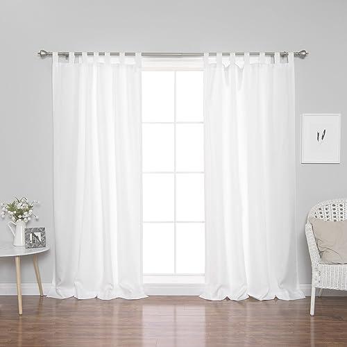 Best Home Fashion Oxford Tab Top Curtains
