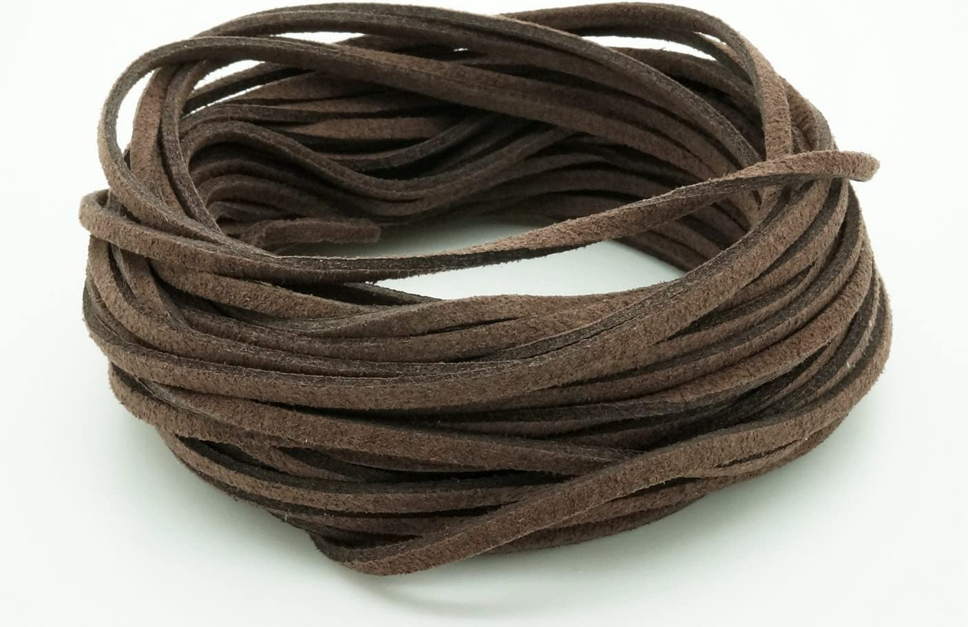 CHOCOLATE BROWN 3mm x 1.5mm Faux Suede Cord Leather Lace Bracelet Necklace Making 10yards Skein