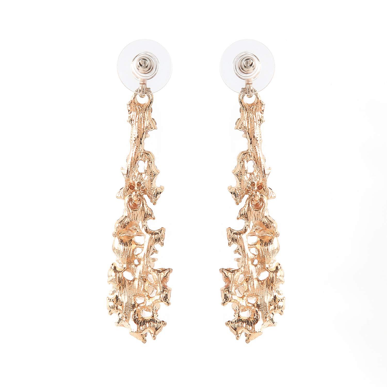 Metme Womens Crystal Simulated Pearl Chandelier Dangle Earrings Pendant Bridal Wedding