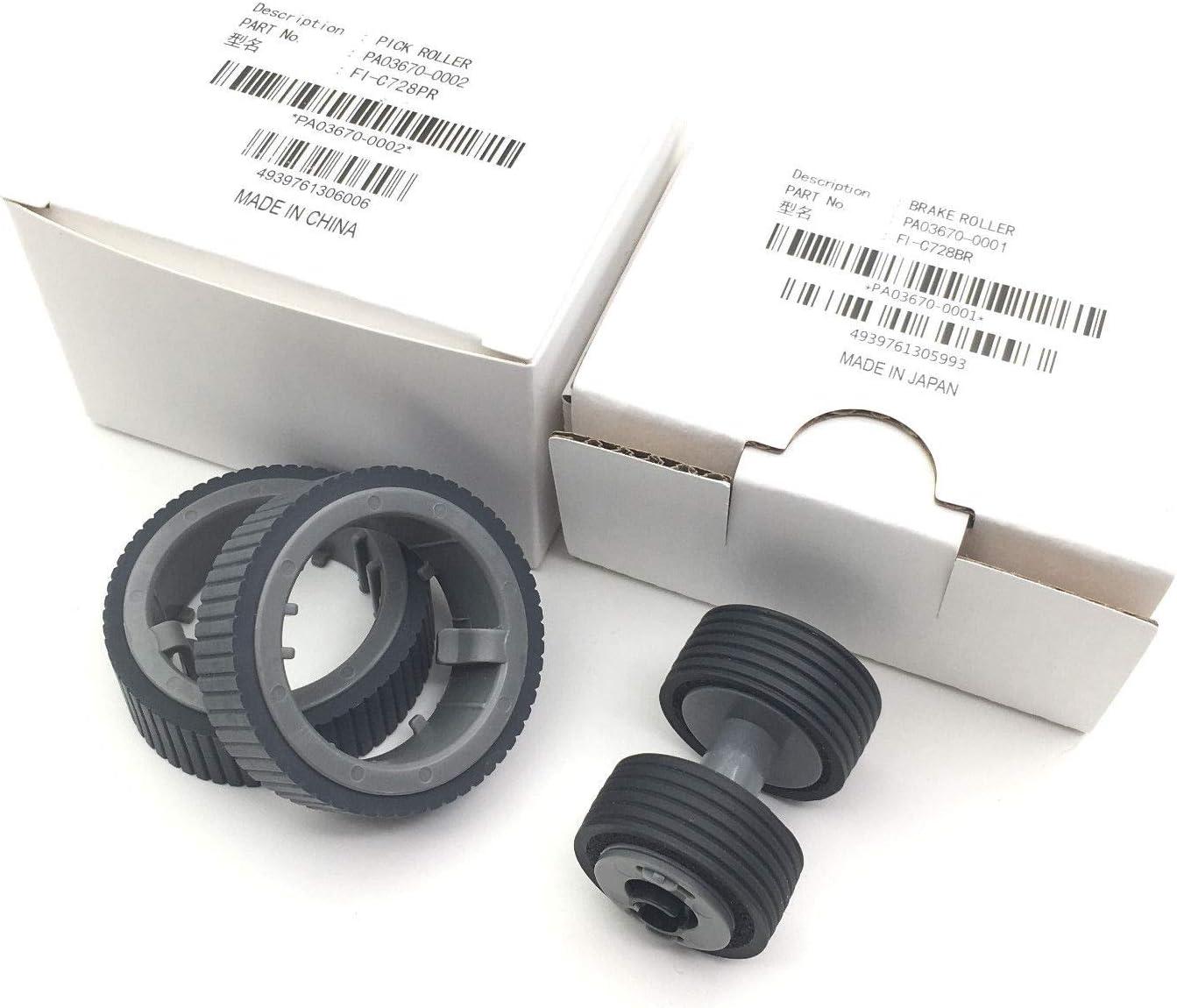 PA03670-0001 PA03670-0002 Fujitsu fi-7160 fi-7260 fi-7240 Pickup Roller Tire