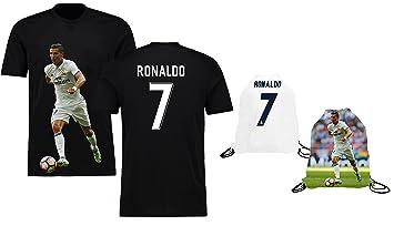 Ronaldo Jersey estilo camiseta niños cristiano ronaldo Jersey camiseta Set de regalo jóvenes tamaños ✓ Premium