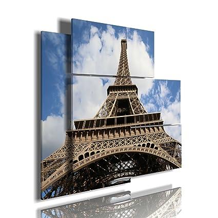 duudaart Quadro Moderno Parigi: Torre Eiffel 10 3D a Due Livelli ...