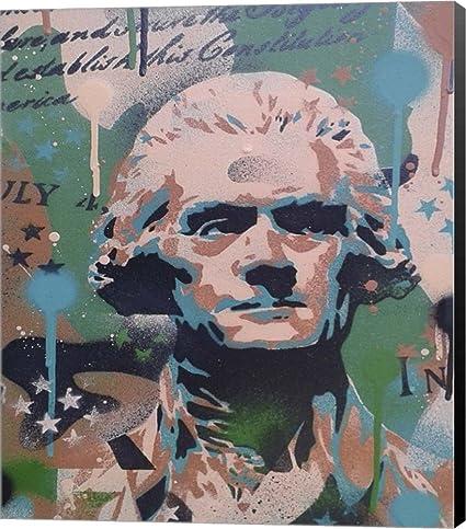 Amazon Com Jefferson By Abstract Graffiti Canvas Art Wall