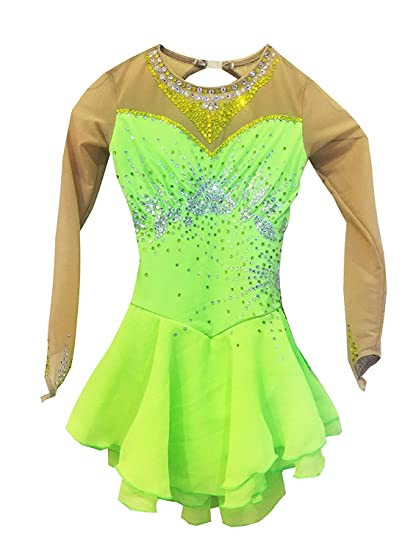 Heart&M Trajes de Patinaje artístico Verde para niñas y ...