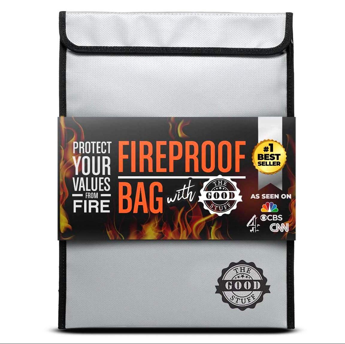 Fireproof Document Bags (2000℉), Protect Important Documents, Fireproof Bags (Extra Strength), Waterproof and Fireproof Document Bag, Fire Safe Bags, Keep your Documents Safe from Fire and Water by The Good Stuff