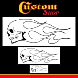 Custom Shop Airbrush Skull Fire Flame Stencil Set