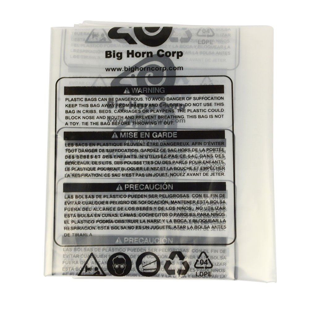 Big Horn 11785 Disposable Clear Plastic Dust Bags for Delta and Other 16-1/2-Inch Units, 5-Pack