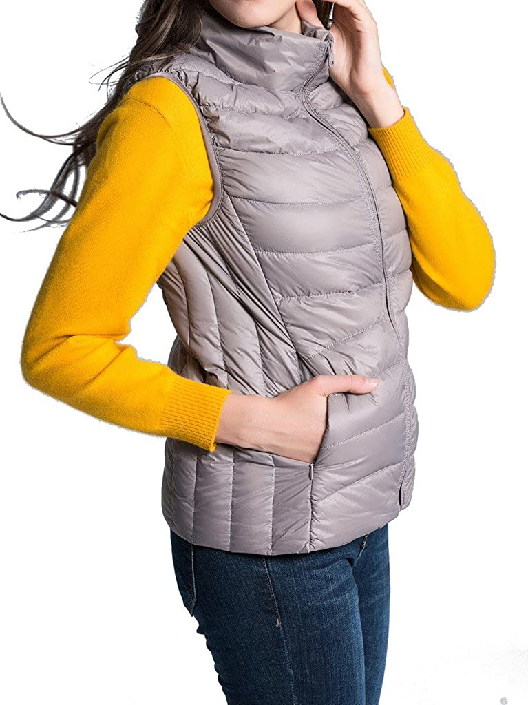 HengJia Women's Packable Down Vest Lightweight Leopard-Print Puffer Vest HengJia Trading Co. Ltd