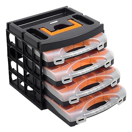 Caja para herramientas con 4 bandejas (56100): Amazon.es ...