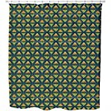 Tribal Arrows Shower Curtain: Large Waterproof Luxurious Bathroom Design Woven Fabric