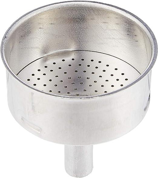 Bialetti 0800102 Blister Embudo Aluminio Acero Inoxidable 12,5 x 6 ...
