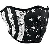 Zanheadgear WNFM091H Black and White Adult/Unisex Half Mask (Neoprene, Black & White Flag)