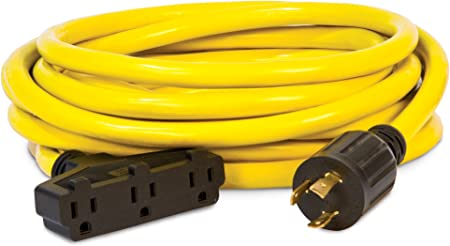Champion Power Equipment 25-Ft 30 Amp Generator Power Extension Cable Cord Prong