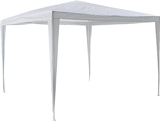 Nexos Trading - Carpa para jardín (3 x 3 m, Polietileno, Impermeable), Color Blanco: Amazon.es: Jardín