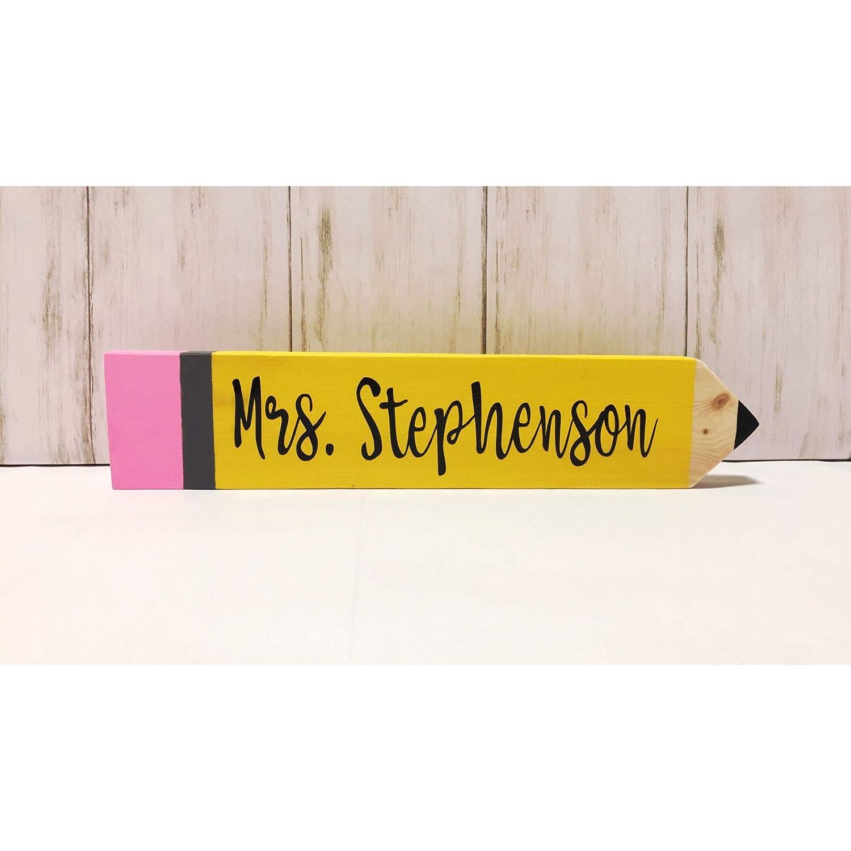 Teacher Name Plate Personalized Teacher Gift Teacher Appreciation Gift Teacher Gifts Personalized Teacher Pencil