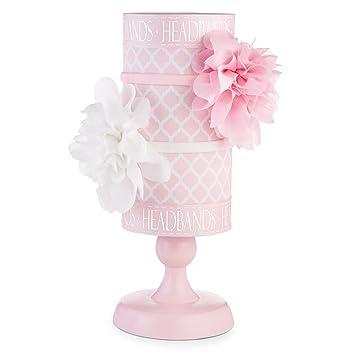 Amazon.com  Mud Pie Baby Girl Home Organization Pink and white ... 88ec1f7c54b