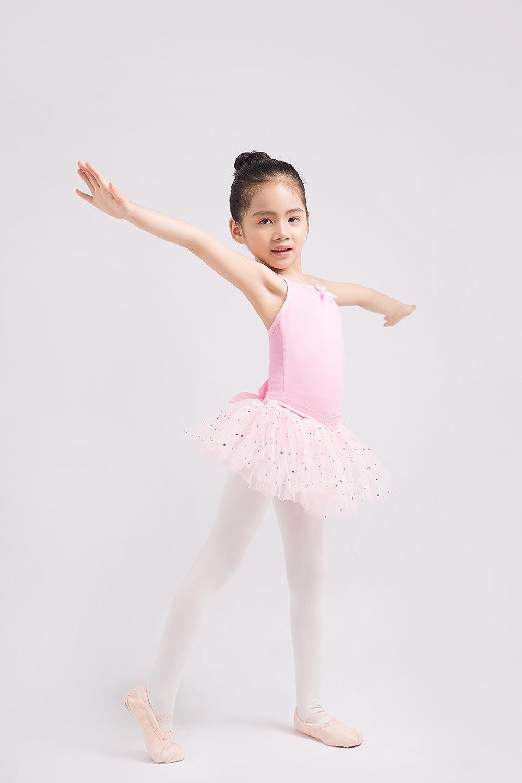 Dancina Girls Skirted Leotard Camisole Dress Ballet Dance Full Front Lining