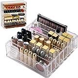 Acrylic Makeup Organizer Compact Makeup Palette Organizer 8 Spaces Makeup Holder Organizer For Vanity Clear Cosmetics…