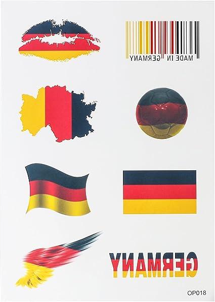 OUERKEJI Las etiquetas engomadas de América / Canadá / Francia / Alemania / Reino Unido / España / bandera de Australia Pegatinas Tattoo Sticker German: Amazon.es: Coche y moto