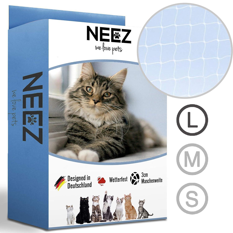 NEEZ Red para Gatos, de 3 x 4, 3x6, 3x8 m, para balcón, Transparente (3x8m): Amazon.es: Productos para mascotas