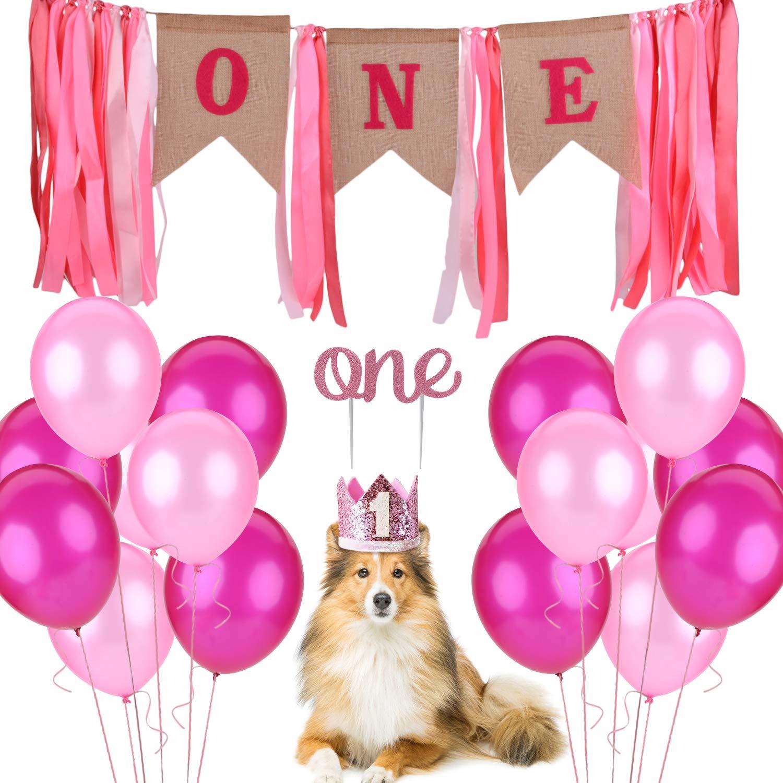 Legendog Dog Birthday Party Supplies, Dog 1st Birthday Decorations, Dog Girl or Boy 1st Birthday Party Supplies, Dog 1st Birthday Outfit with Dog 1st Birthday Hat