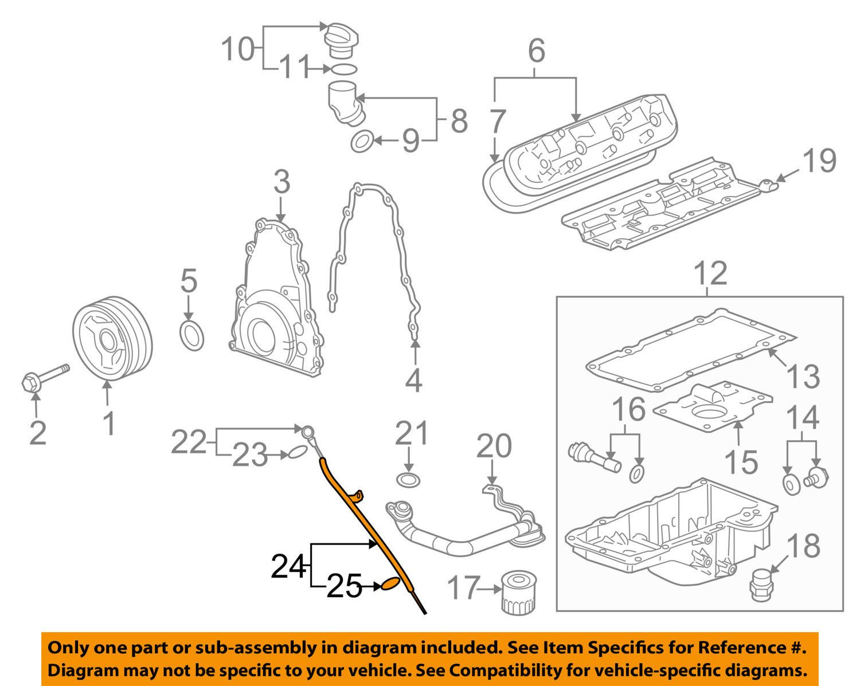 General Motors 12625031 Engine Oil Dipstick Tube Seal 6 0 Gm Lq4 Diagram Automotive