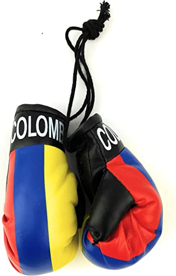 Colombia Flag//Colombian mini boxing gloves for your car mirror-Get the best.