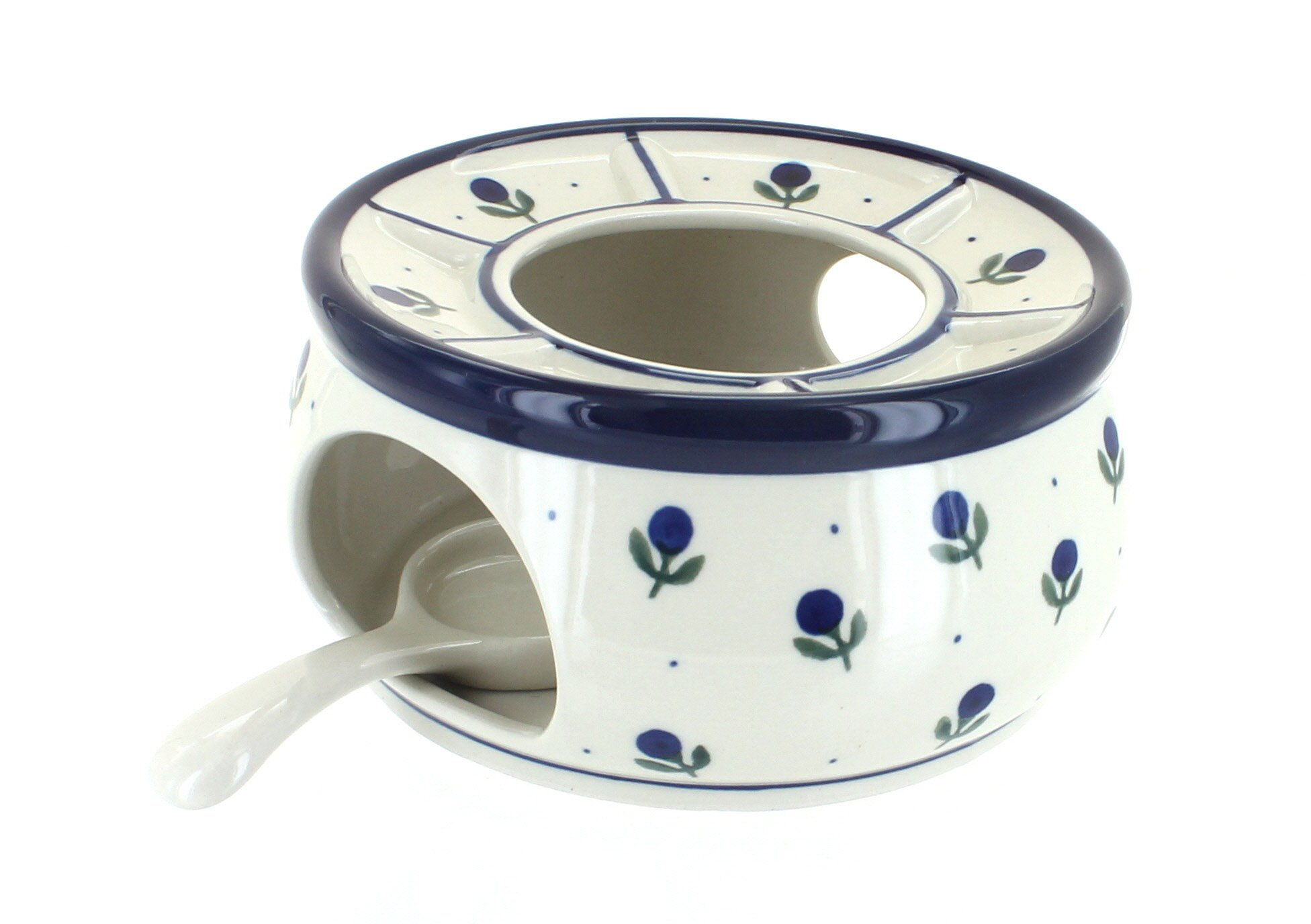 Blue Rose Polish Pottery Blueberry Teapot Warmer